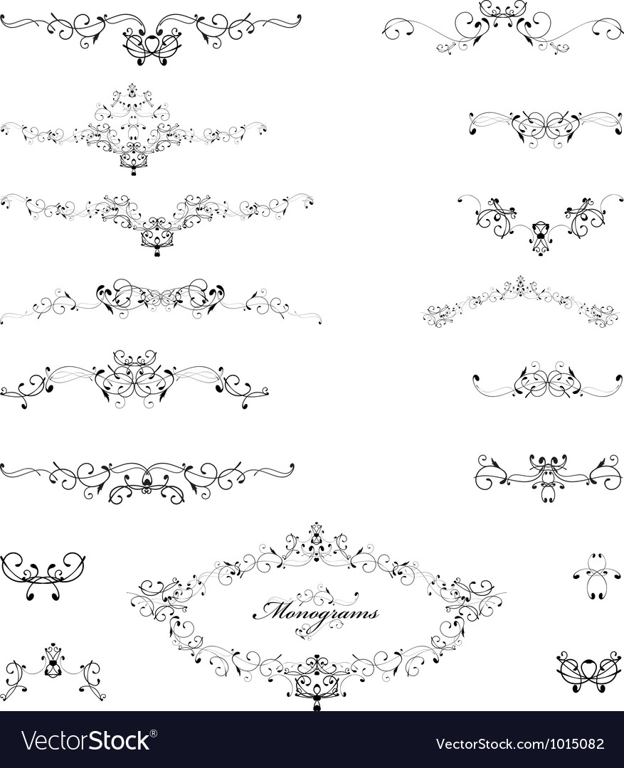 Monograms vector image