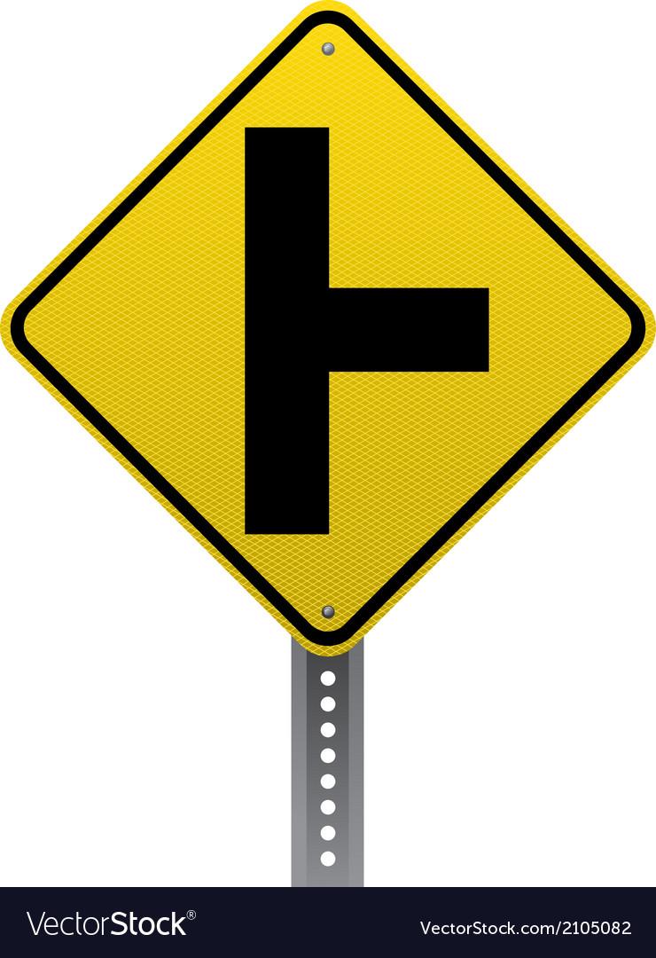 side road sign royalty free vector image vectorstock rh vectorstock com road traffic sign vector road sign vector pack