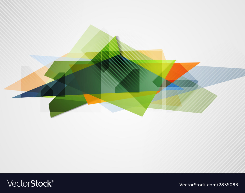 Abstract vibrant geometry shape vector image