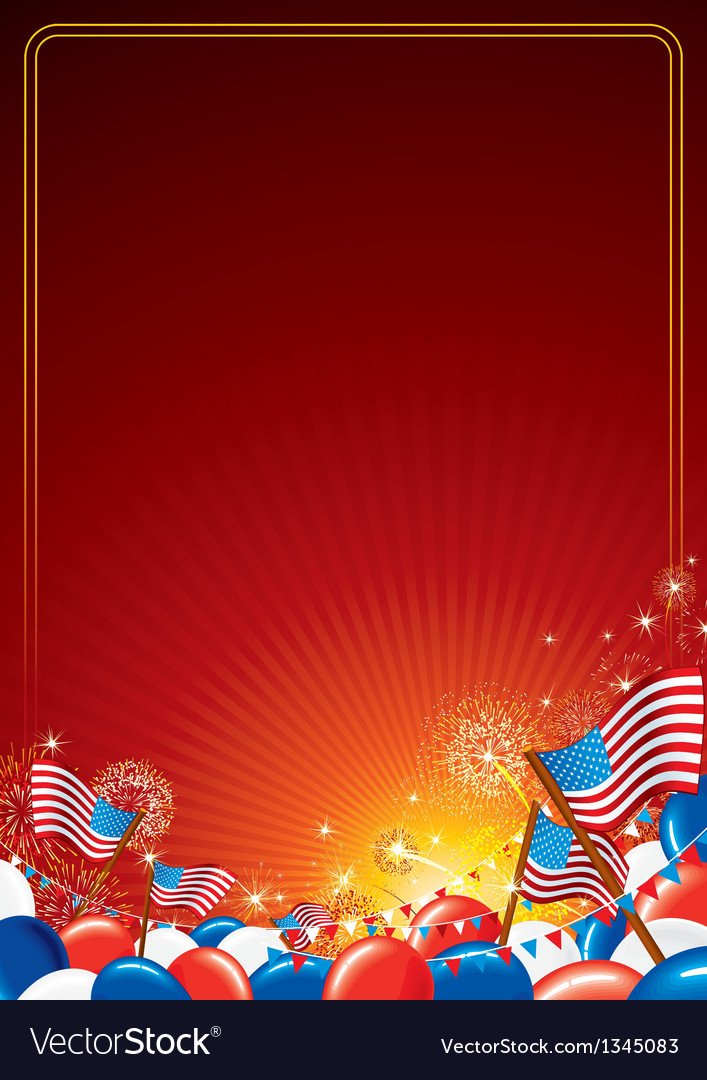 American Celebration Background vector image