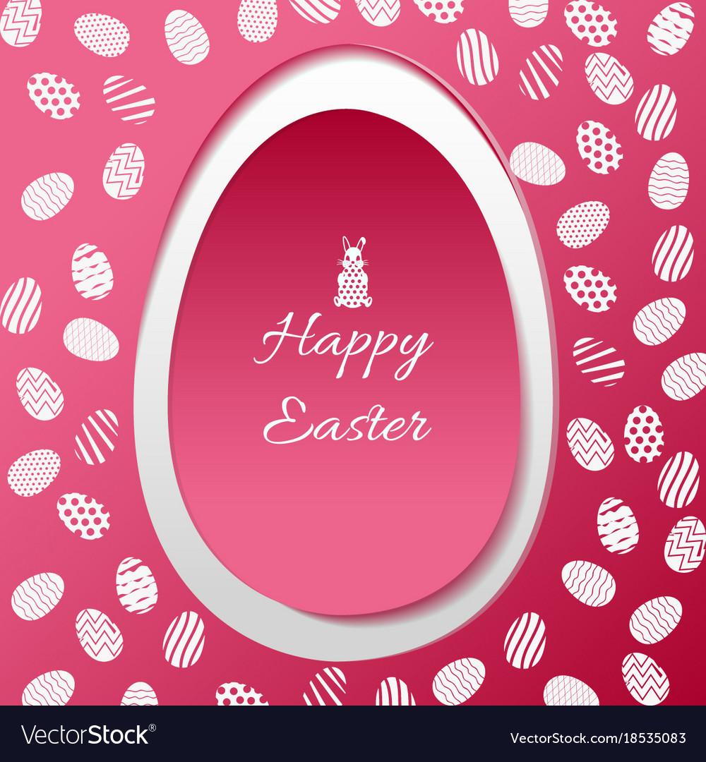 Greeting card with easter egg symbol royalty free vector greeting card with easter egg symbol vector image buycottarizona