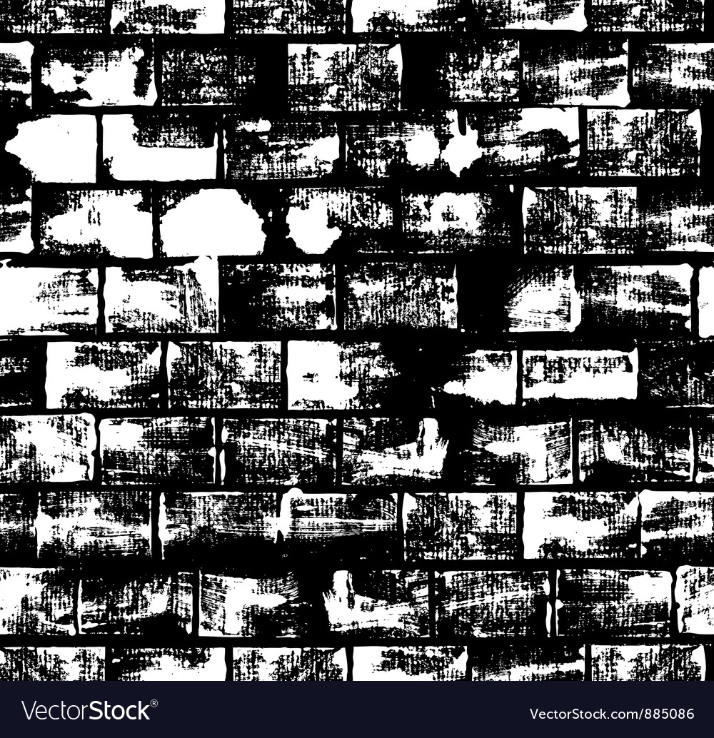 Seamless pattern with brick wall vector image