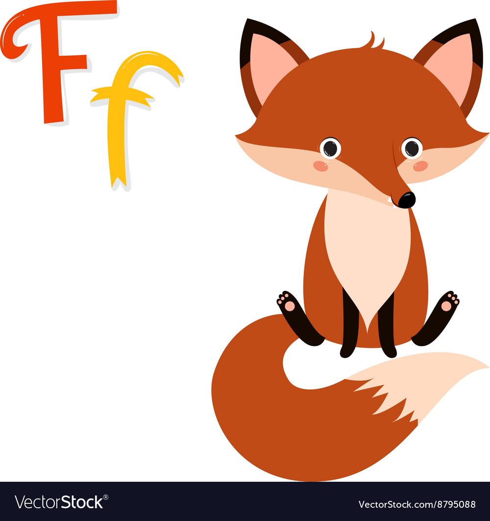 Cute zoo alphabet in vector image