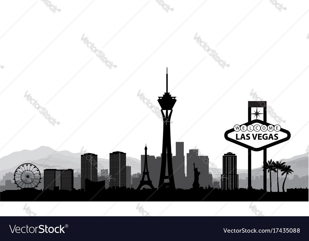 Las vegas skyline travel american city landmark vector image