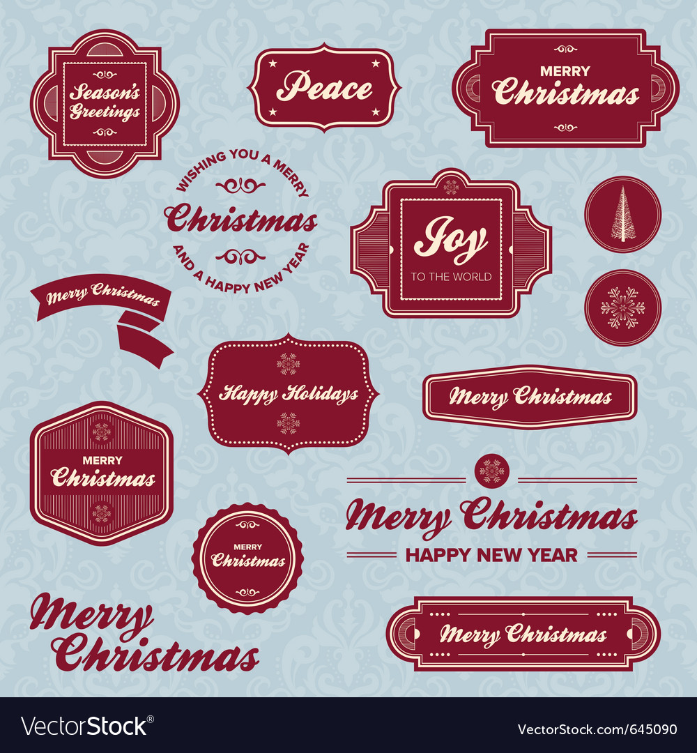 christmas labesl