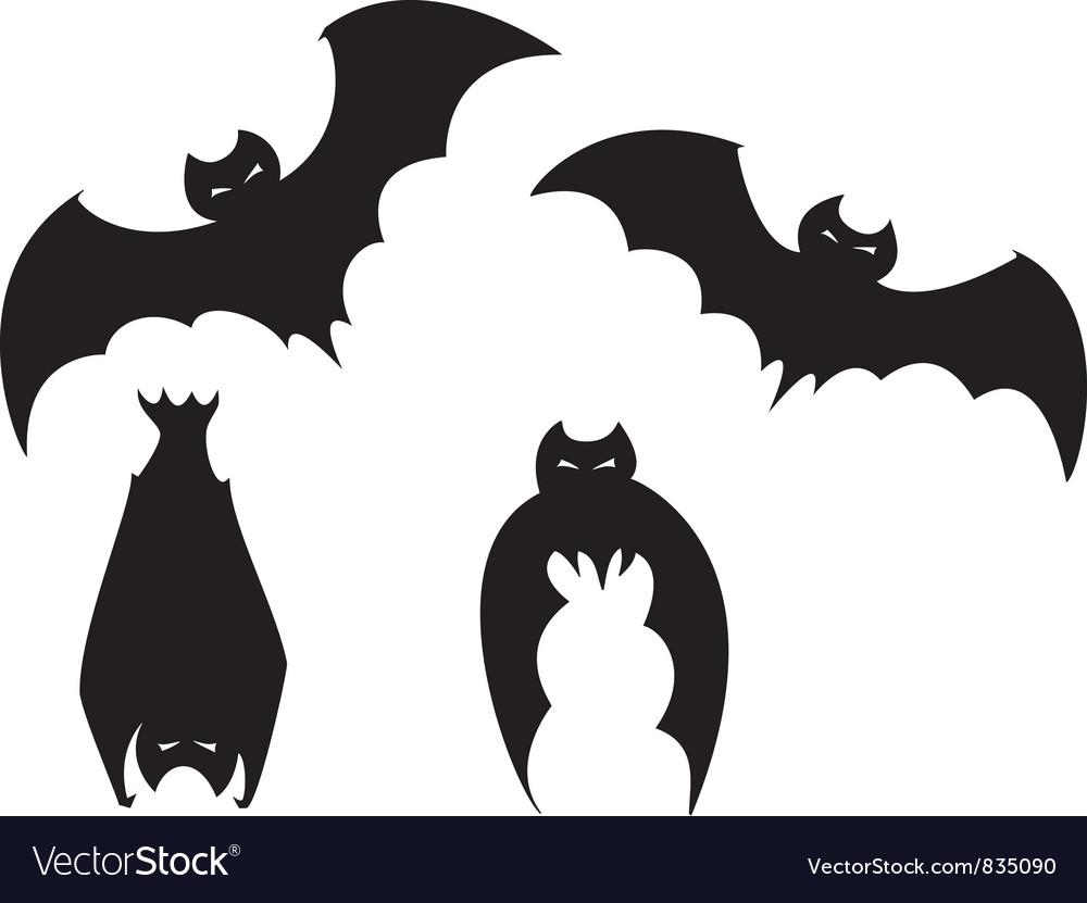 set of bats royalty free vector image vectorstock
