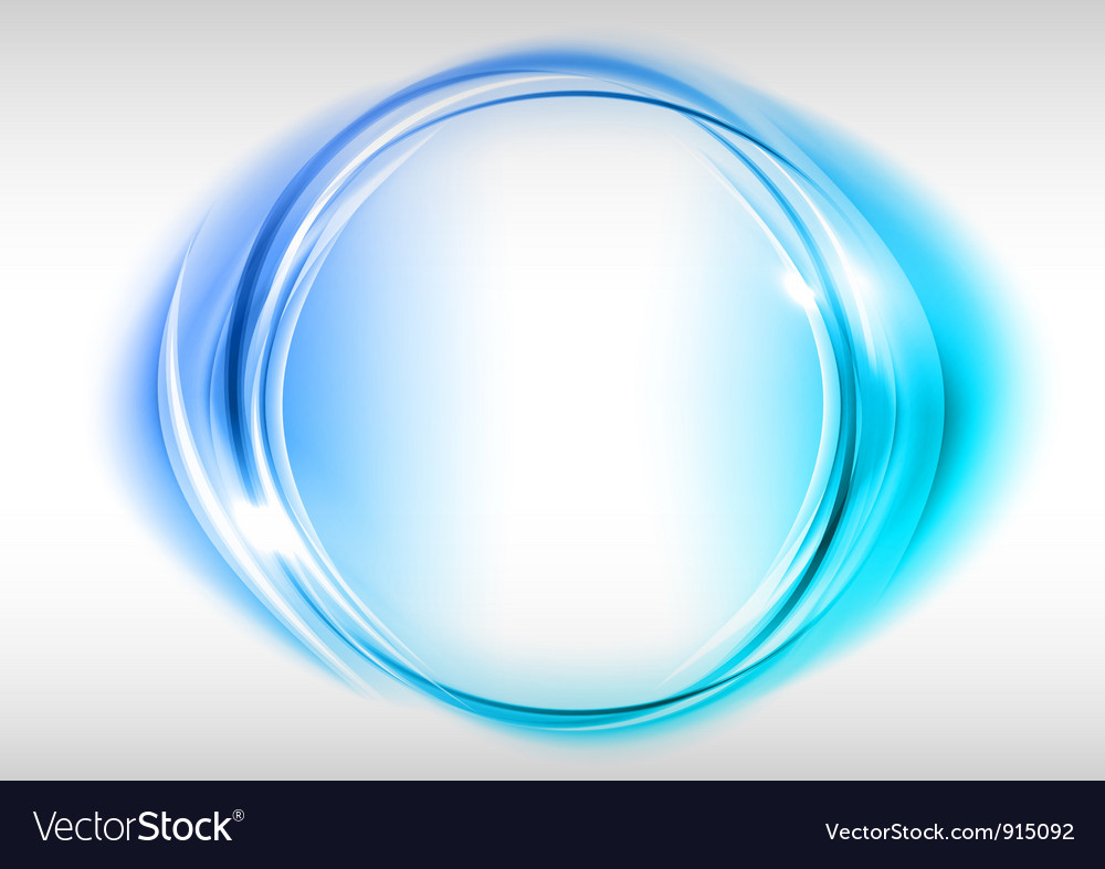 Abstract round on white blue Vector Image