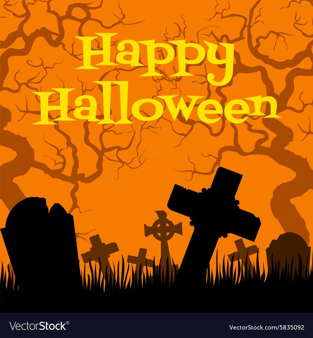 Creepy cemetery vector image