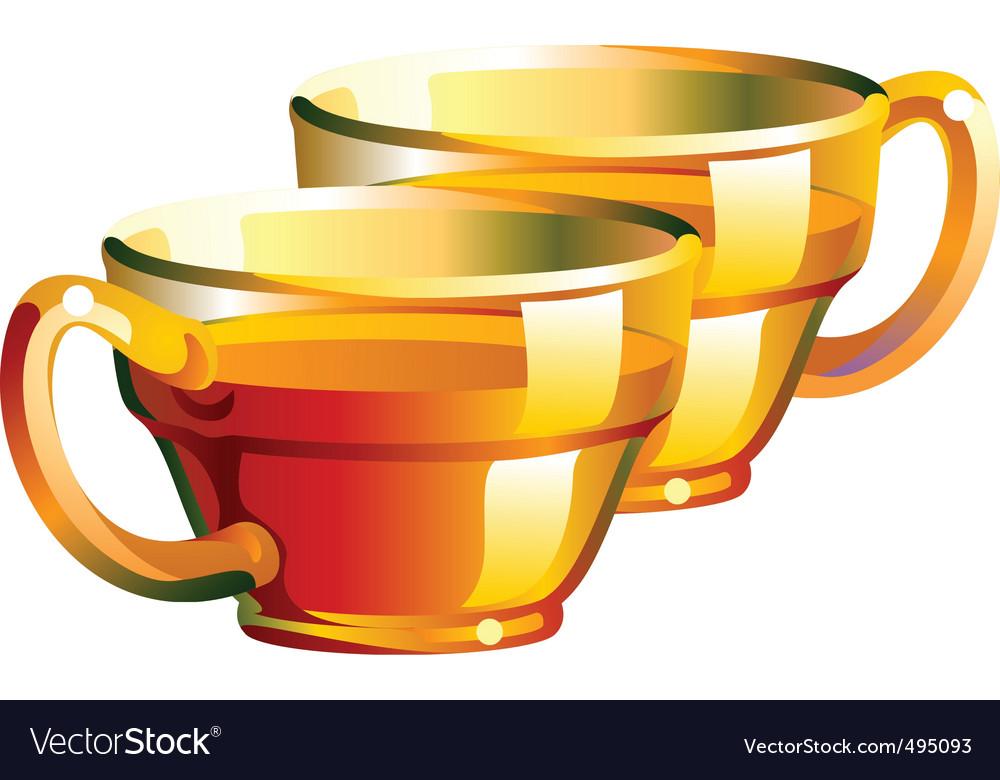 Tea cups vector image