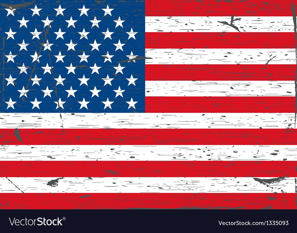 USA flag grunge vector image