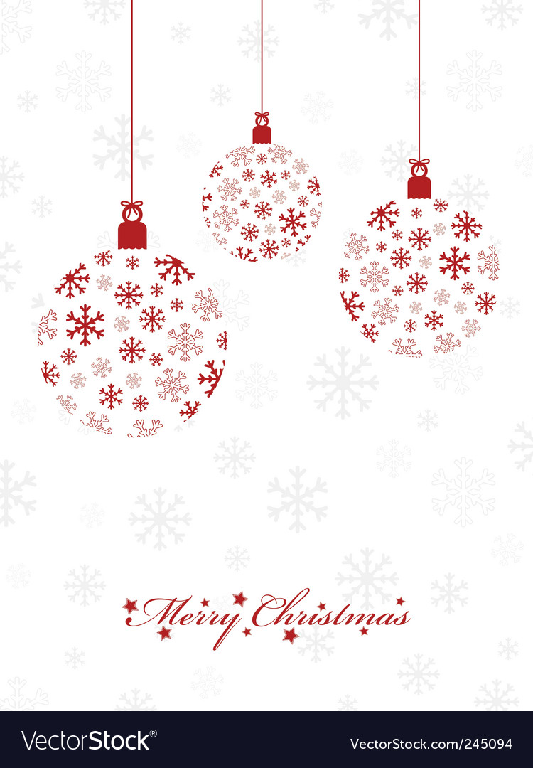 Christmas decorations royalty free vector image for Christmas decoration 94