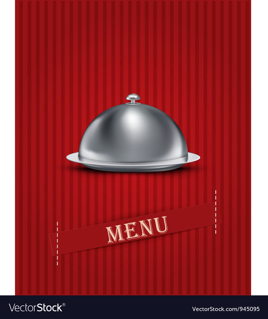 Catering tray menu background vector image