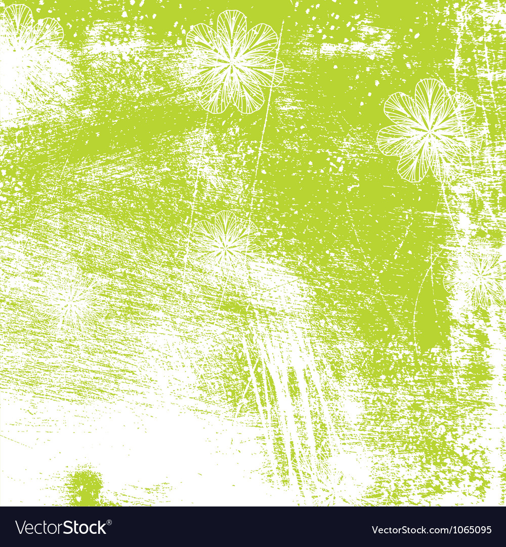 Distressed Floral Background vector image