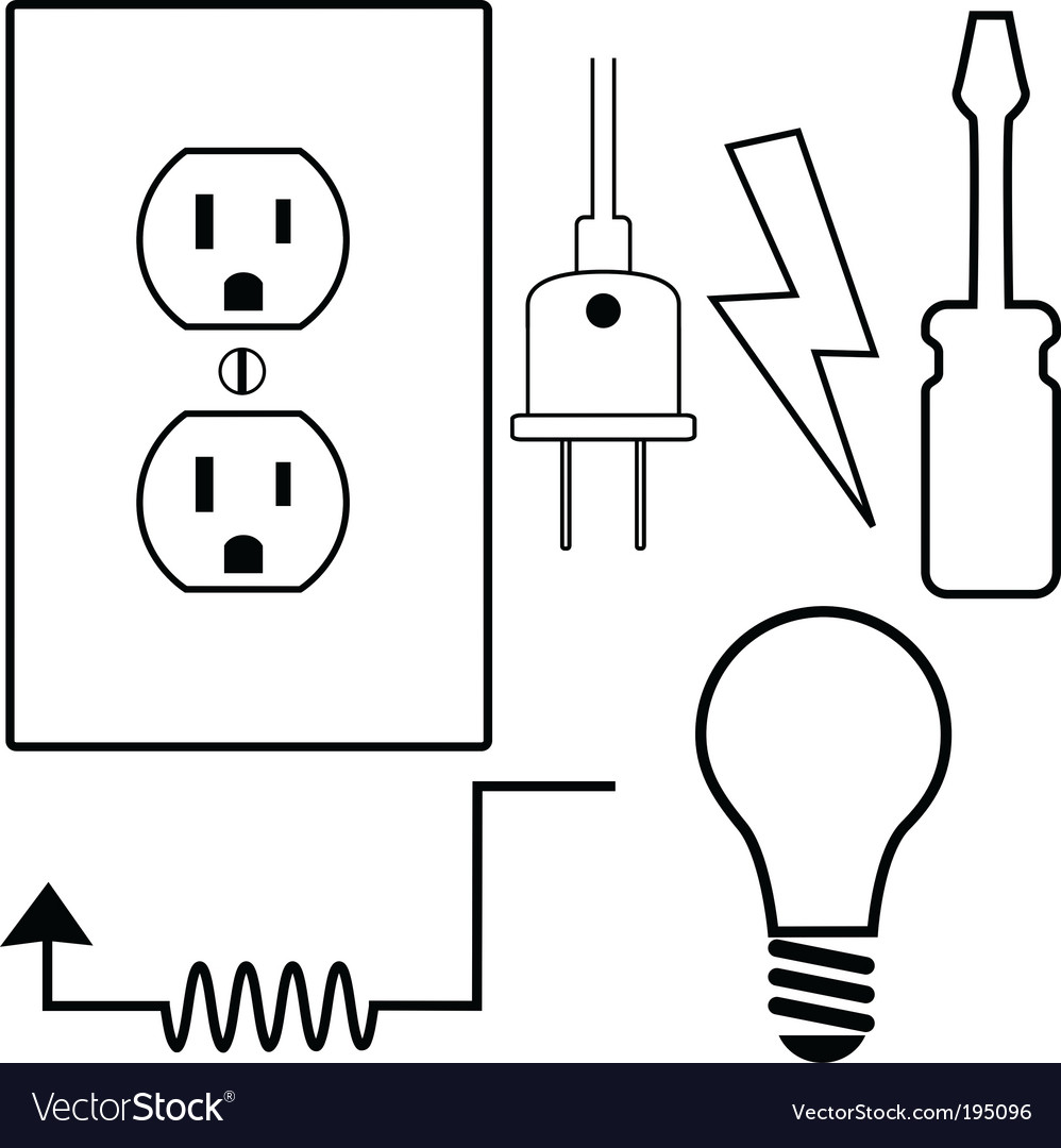 Electrical symbols vector image