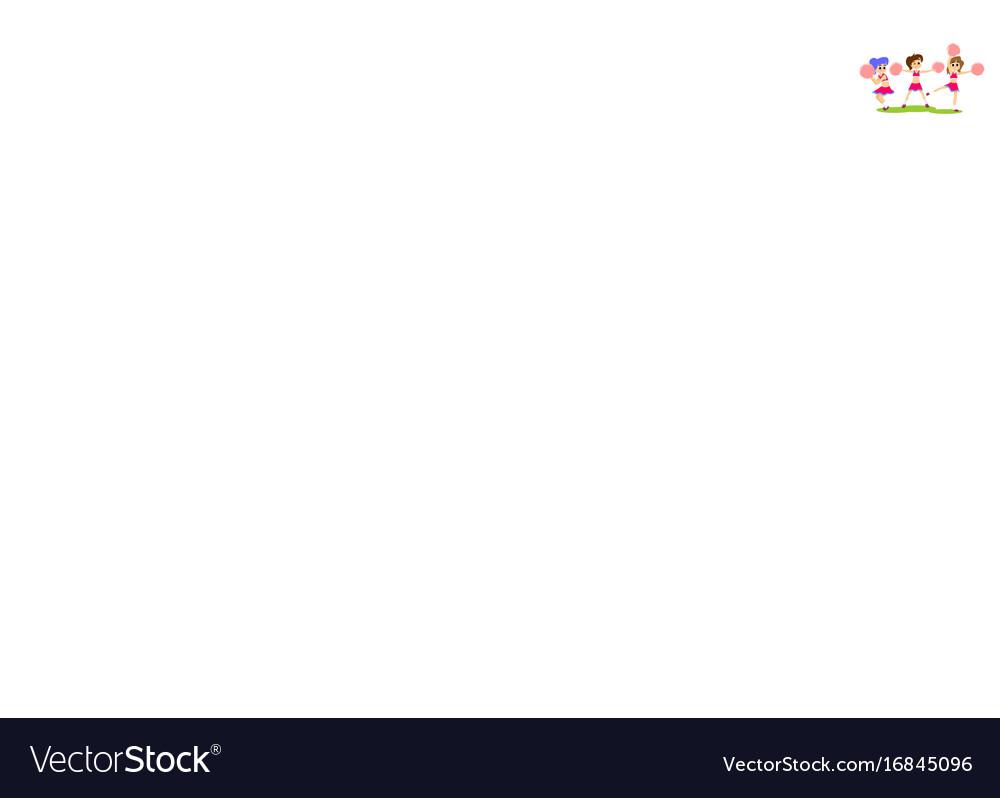 Cheerleader dancing in uniform with pom poms vector image