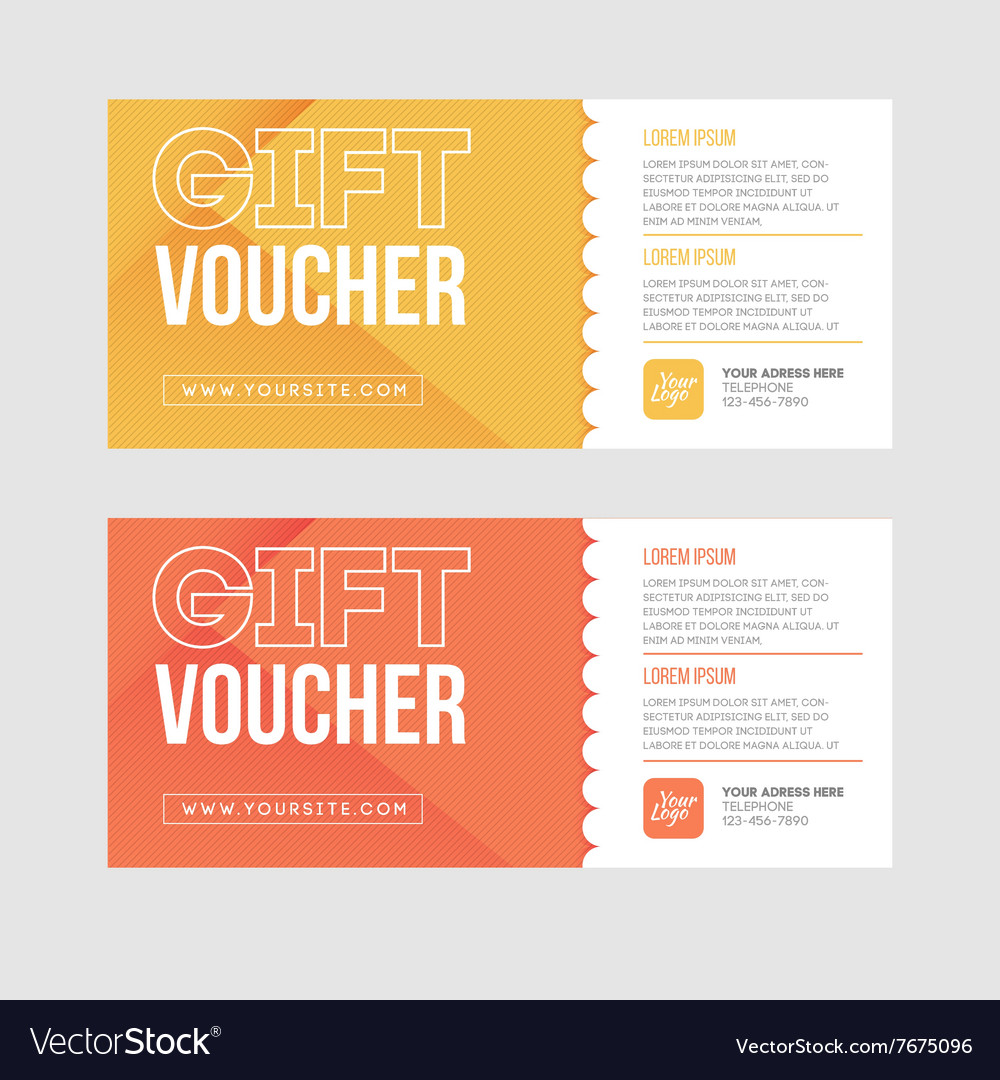 Gift voucher template set two gift cards design vector image gift voucher template set two gift cards design vector image 1betcityfo Images