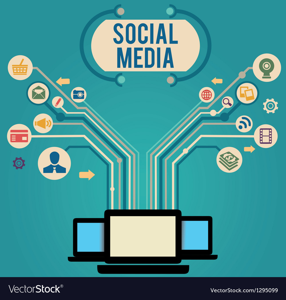 Concept of social media vector image