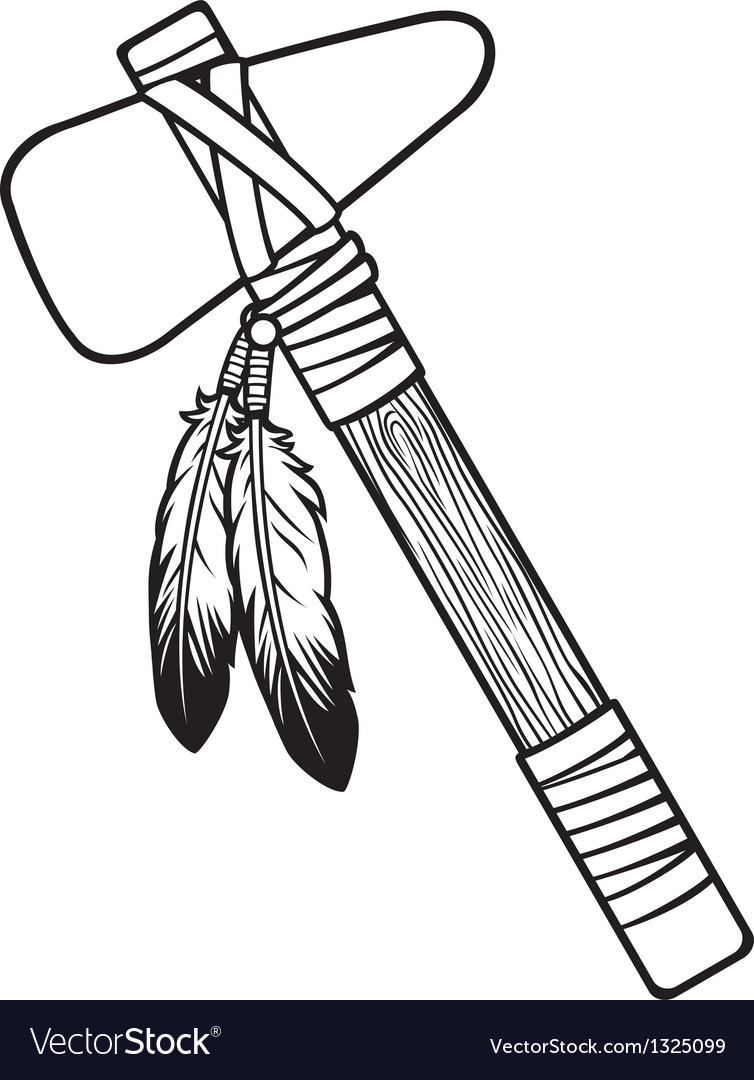 Native American Tomahawk Royalty Free Vector Image