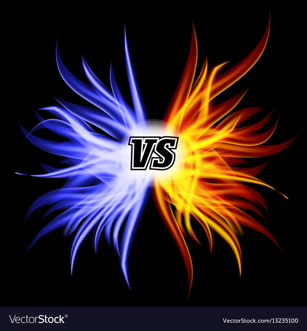 Background image vs background - Versus Vs Letters Flame Fight Background Vector Image
