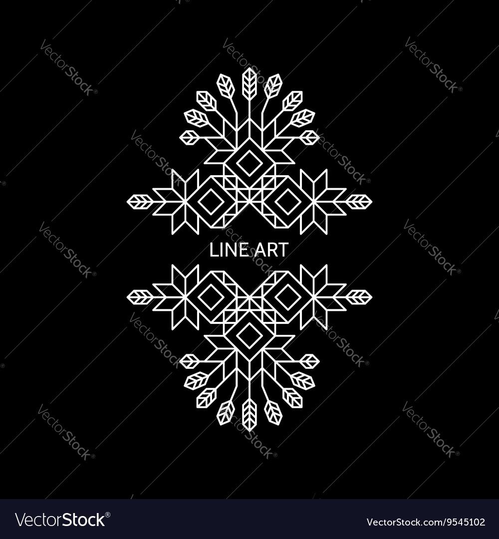 Decorative Design Element Retro Style Border vector image