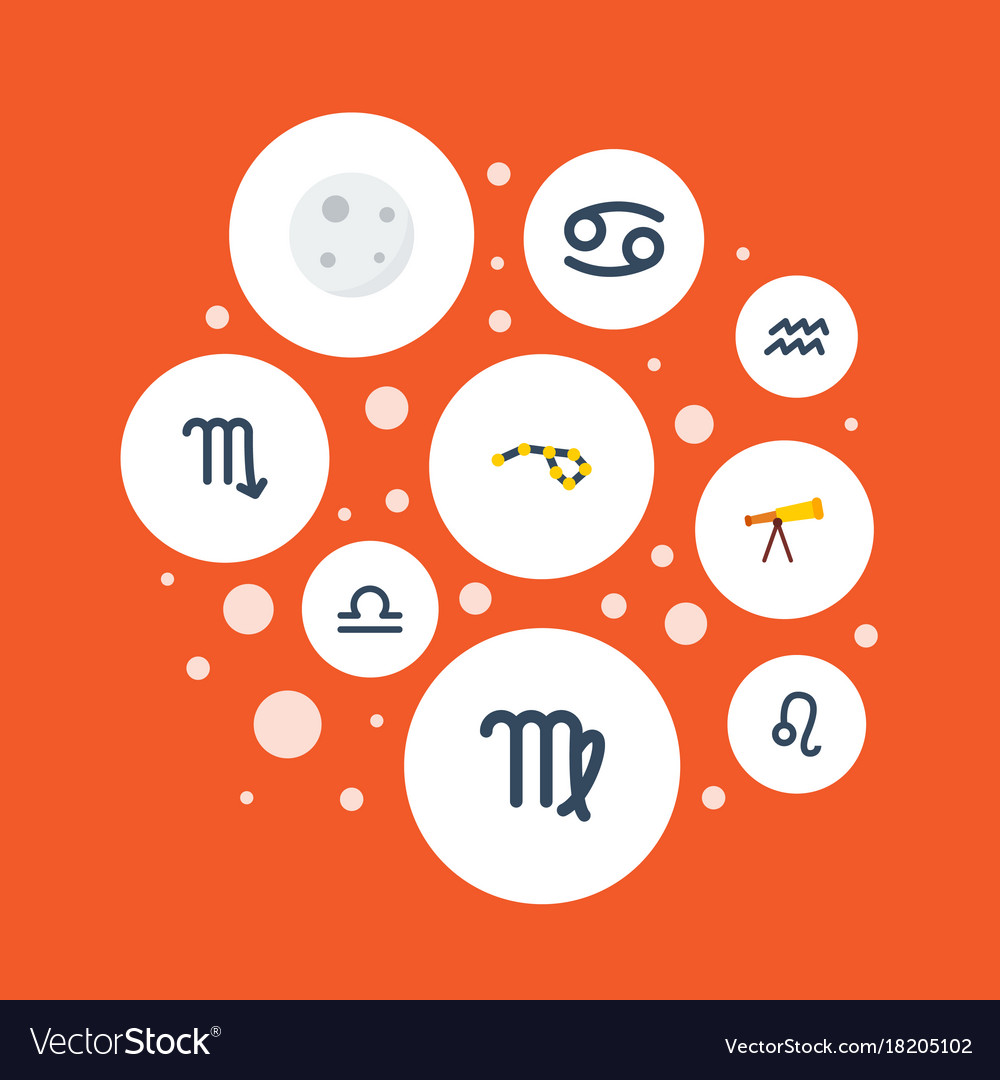 Flat icons zodiac sign water bearer virgin and vector image flat icons zodiac sign water bearer virgin and vector image biocorpaavc Choice Image