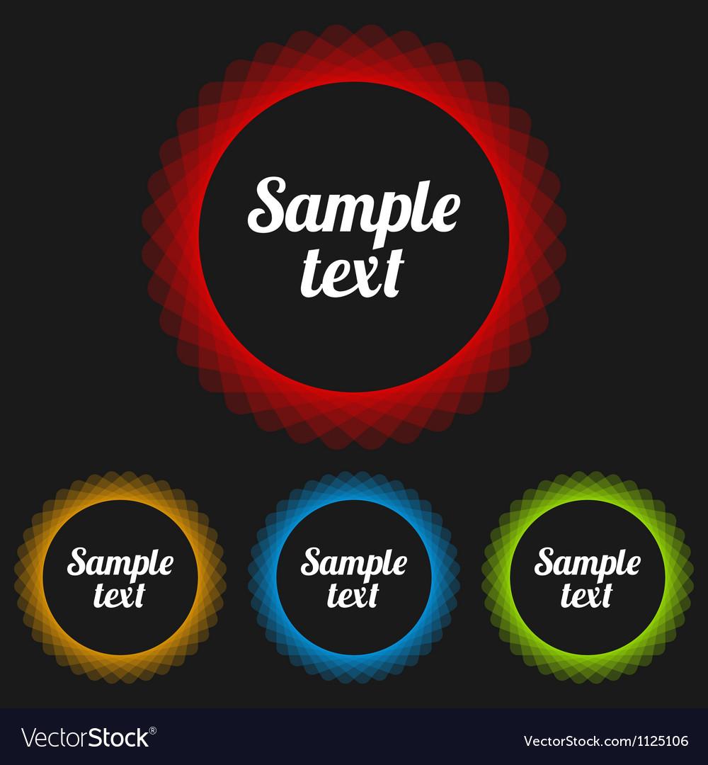 Transparent Badges Set vector image
