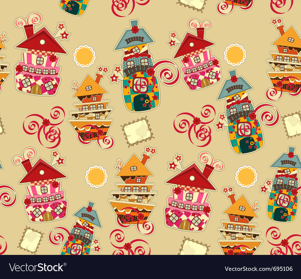Bright seamless background vector image
