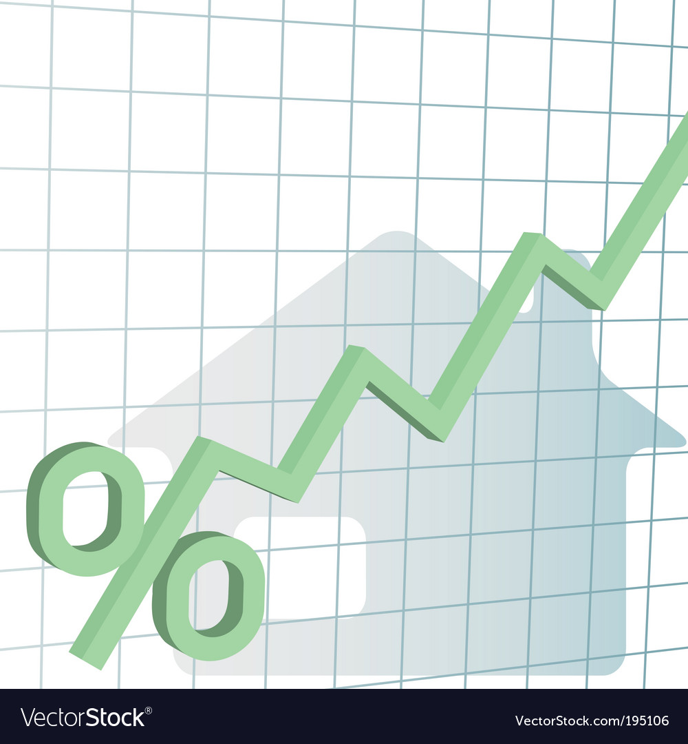 Interest rates vector image