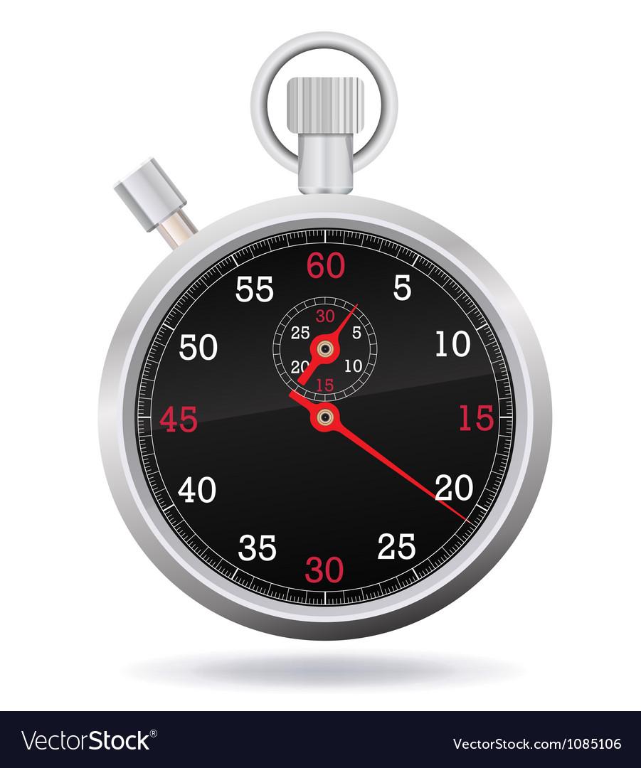 Retro mechanic chromed stopwatch vector image