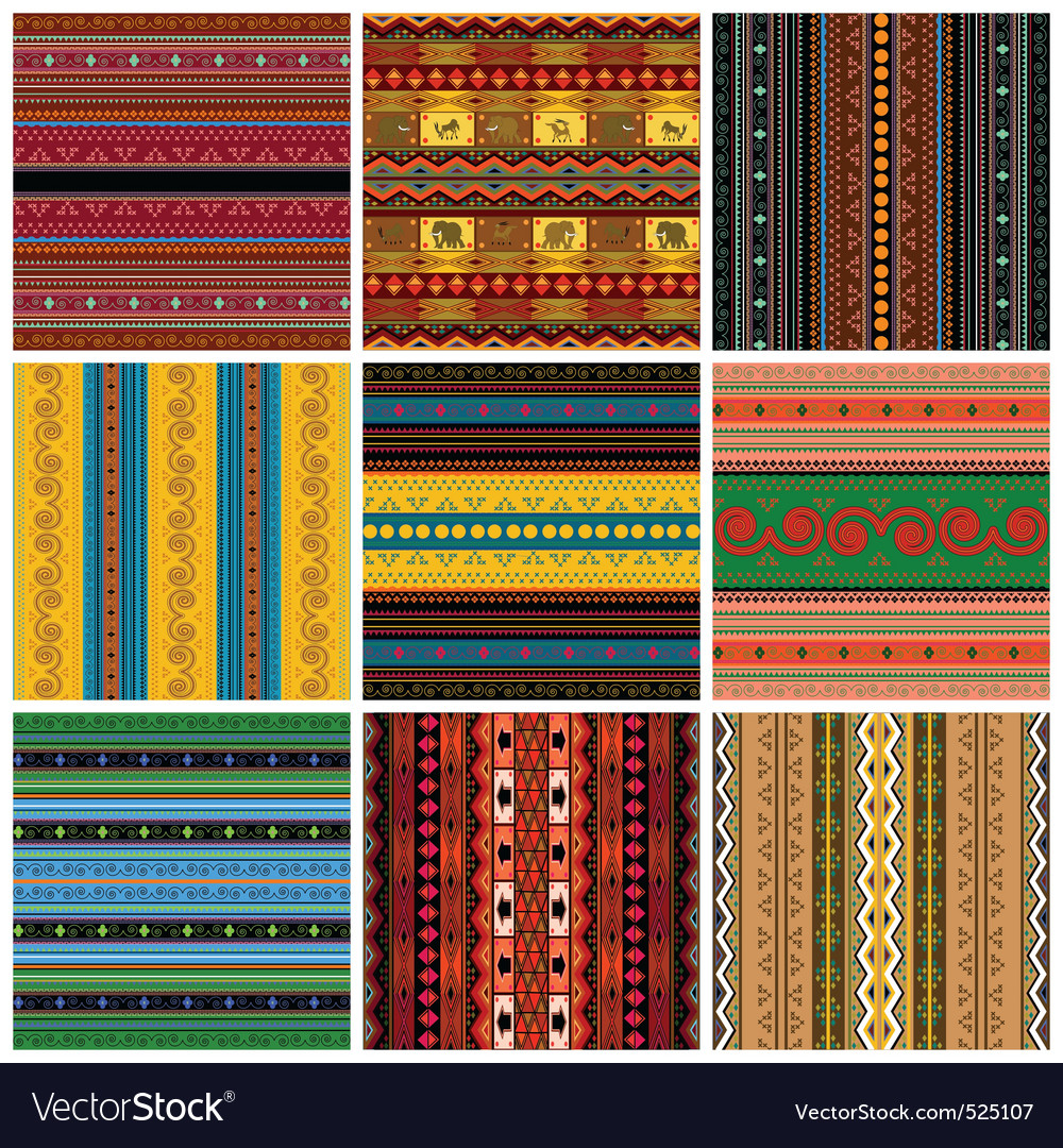 Decorative traditional pattern set Vector Image