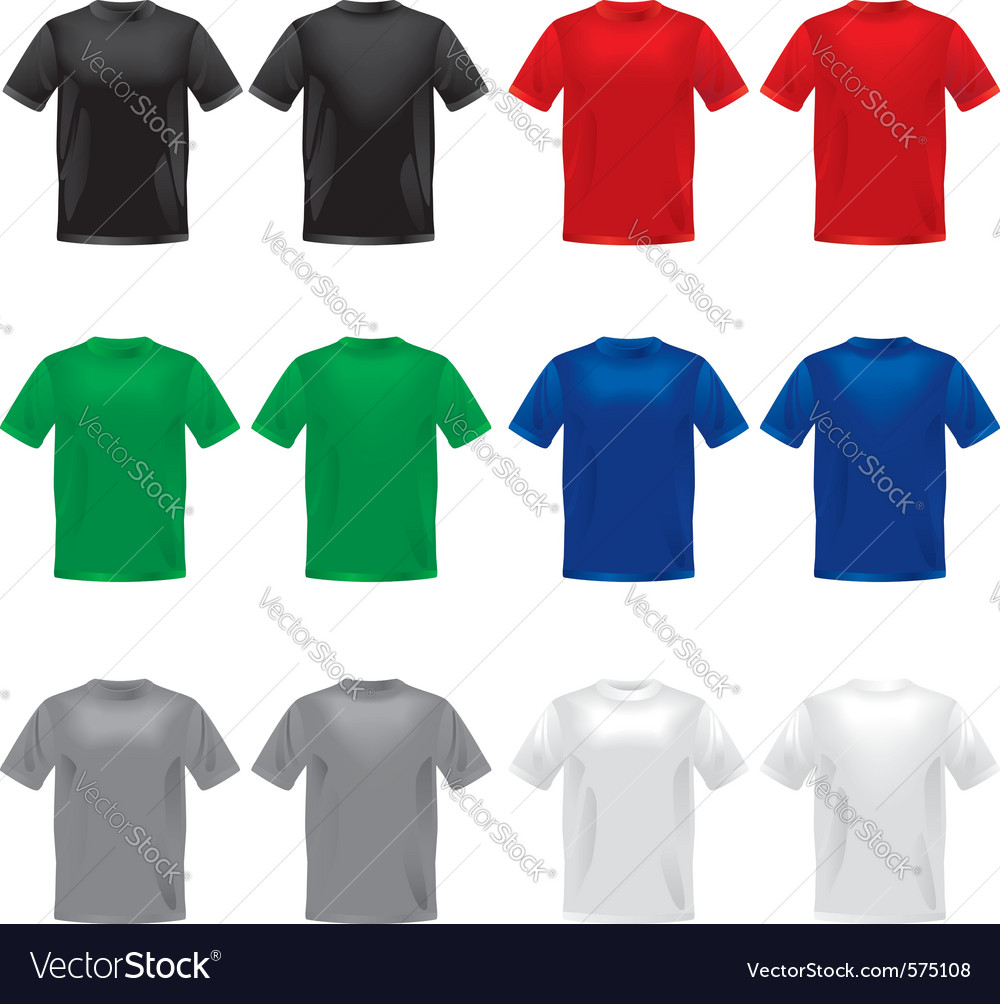 Tshirts template Vector Image