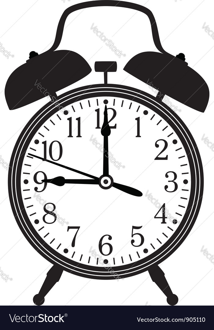 Retro alarm clock Vector Image