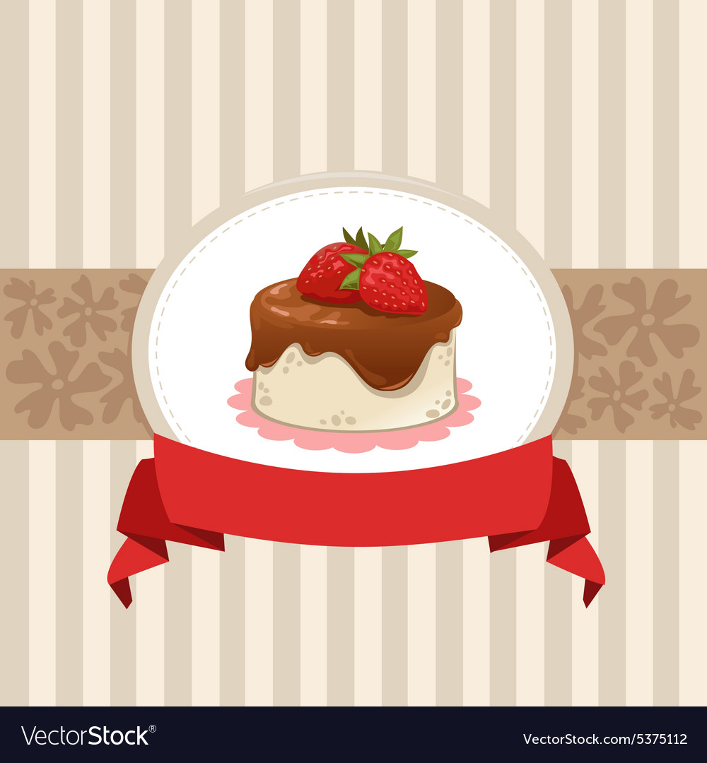 Card design with cupcake vector image