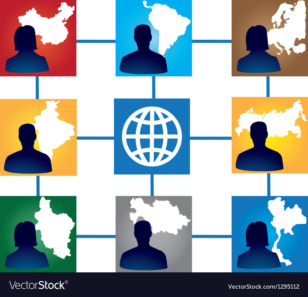 Group of interracial friends vector image