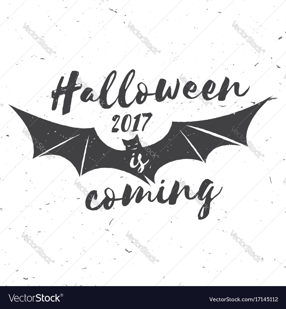 Halloween 2017 is coming Royalty Free Vector Image