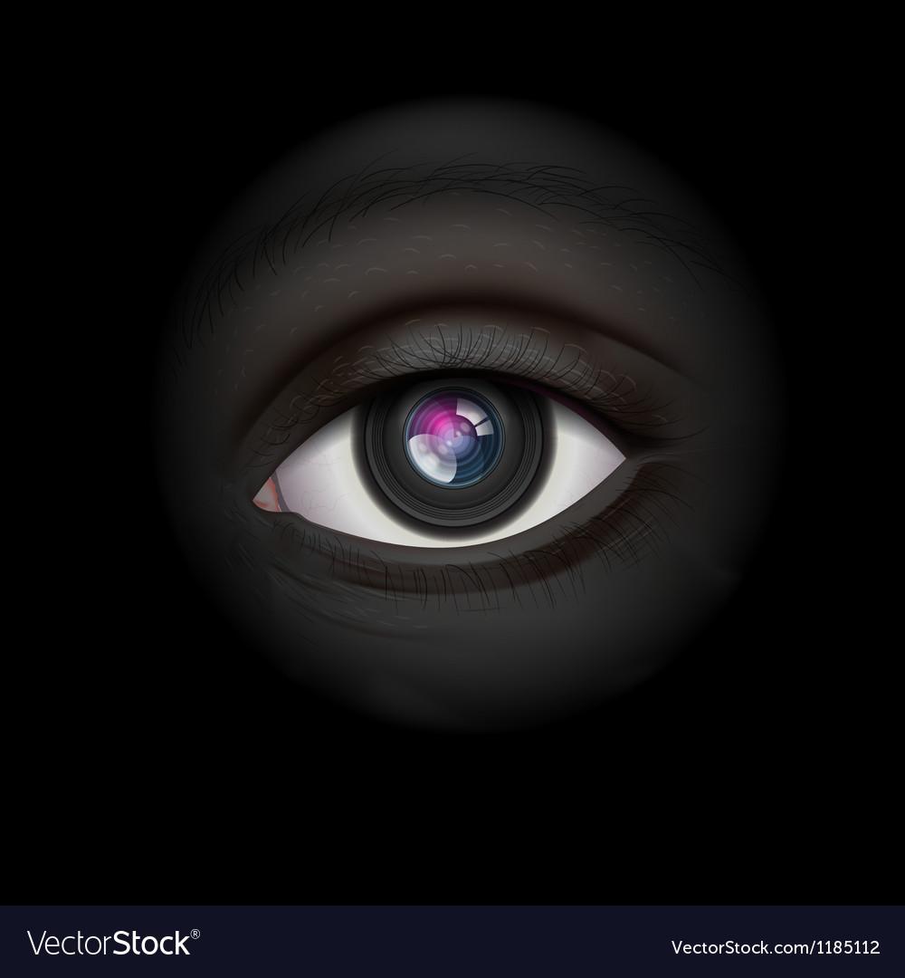 High-tech camera lens eye vector image
