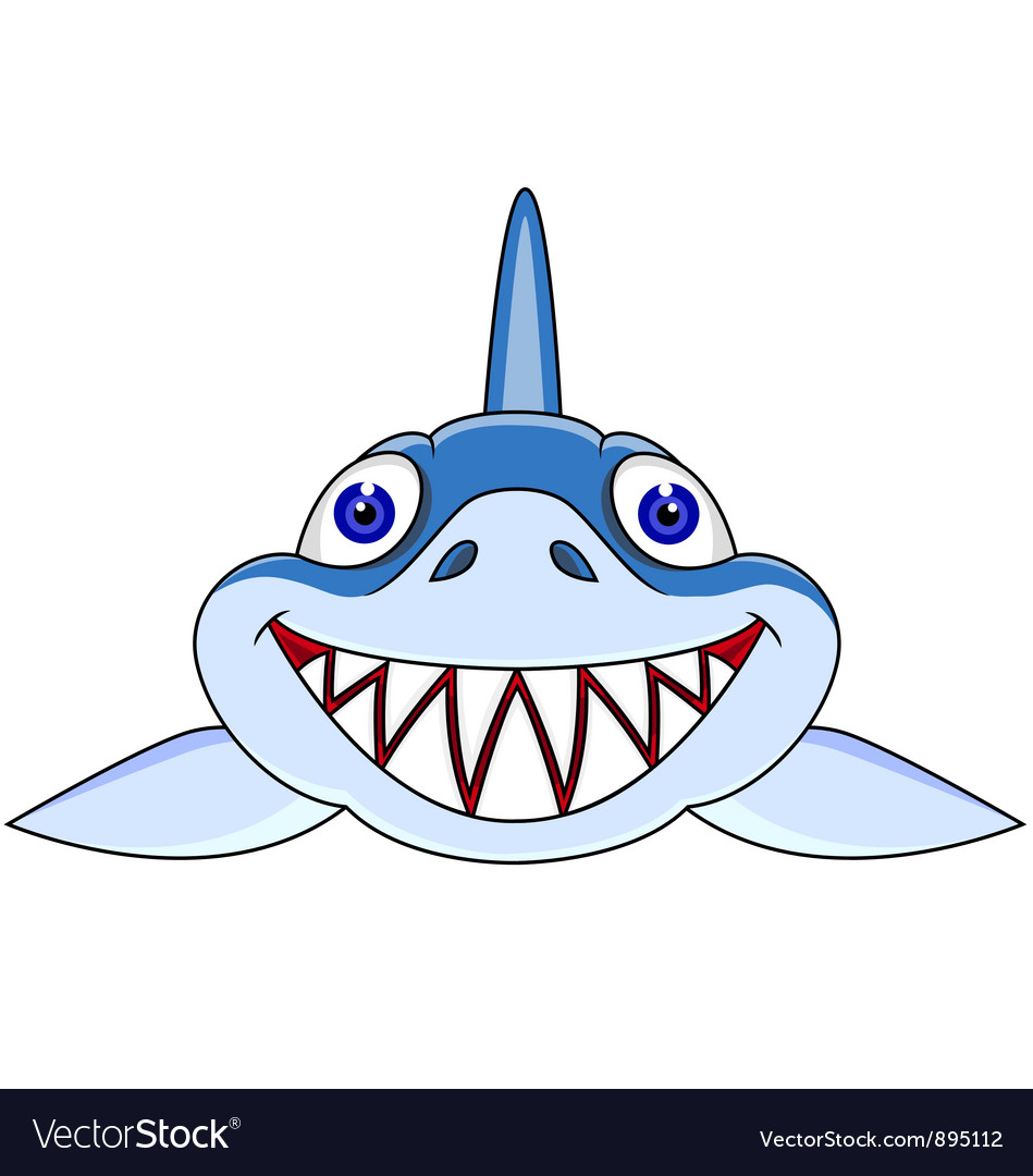 shark head cartoon royalty free vector image vectorstock