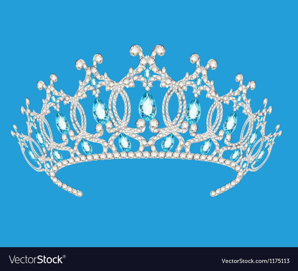 Beautiful diadem feminine wedding vector image