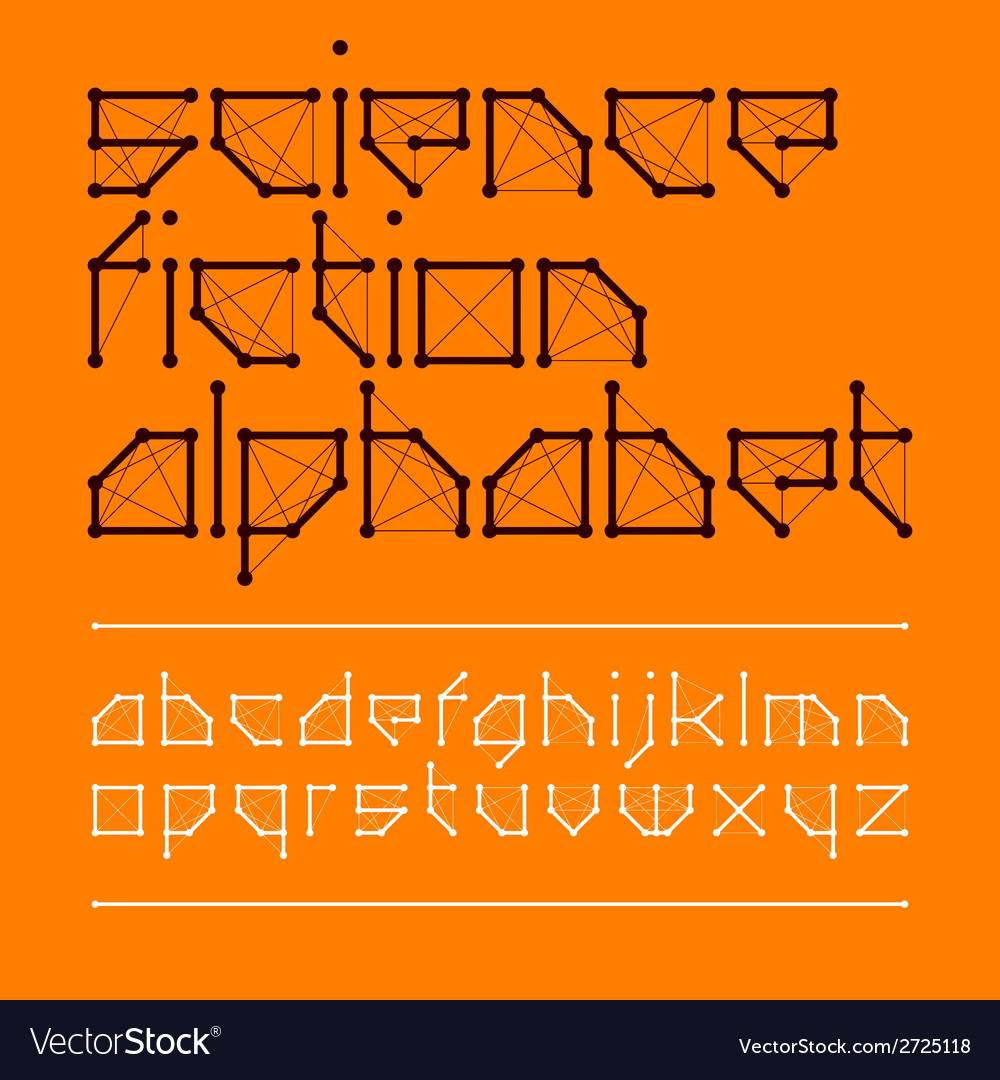 Science fiction font style vector image