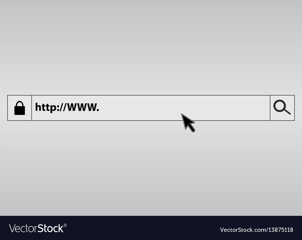 Search bar in the browser vector image