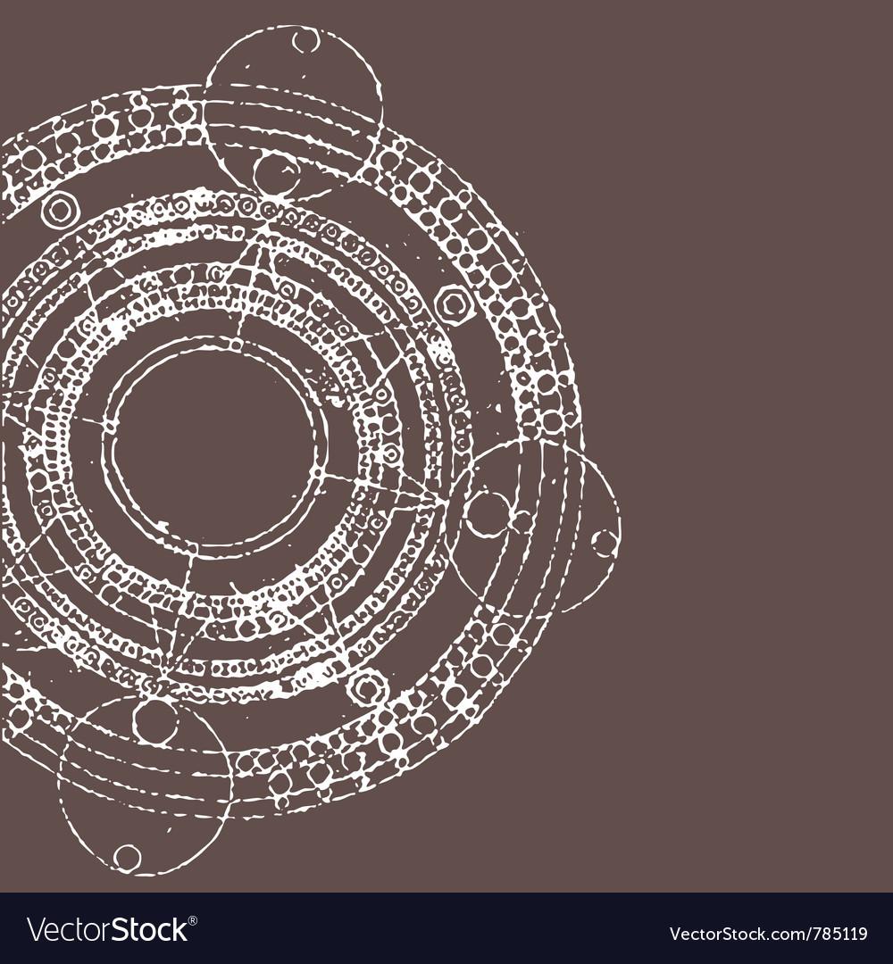 Maya calendar vector image