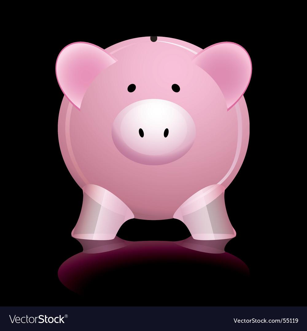Pink piggy bank vector image