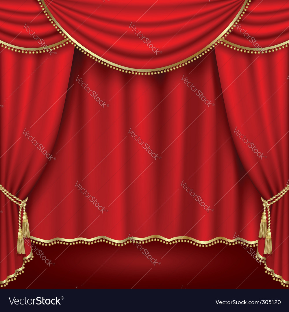 Theatre stage vector image