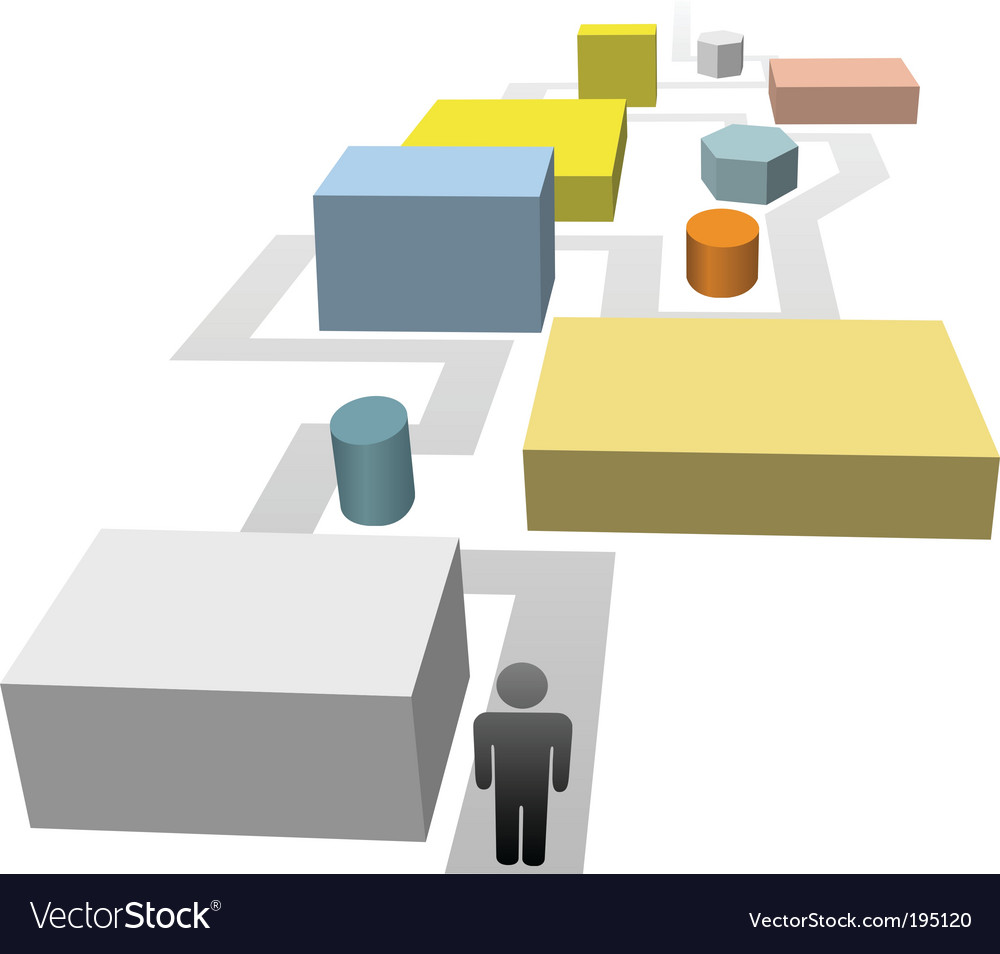 Pathway vector image