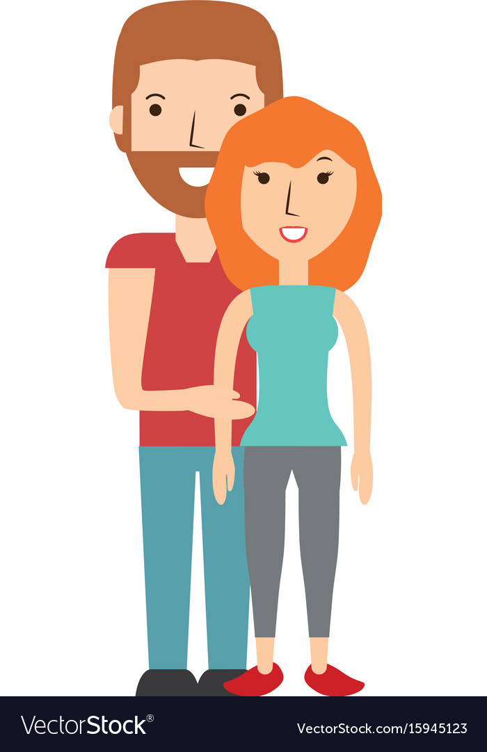 Beautiful young couple vector image