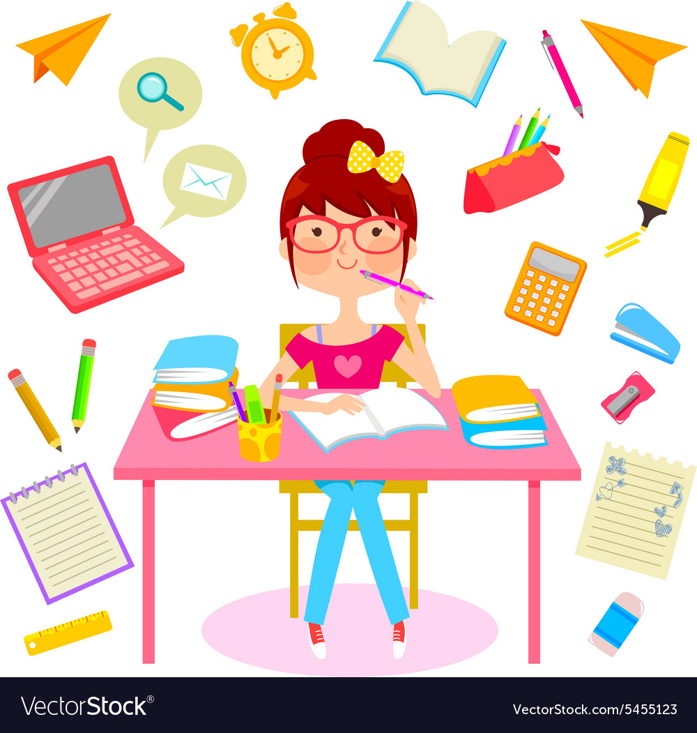 Happy school life vector image