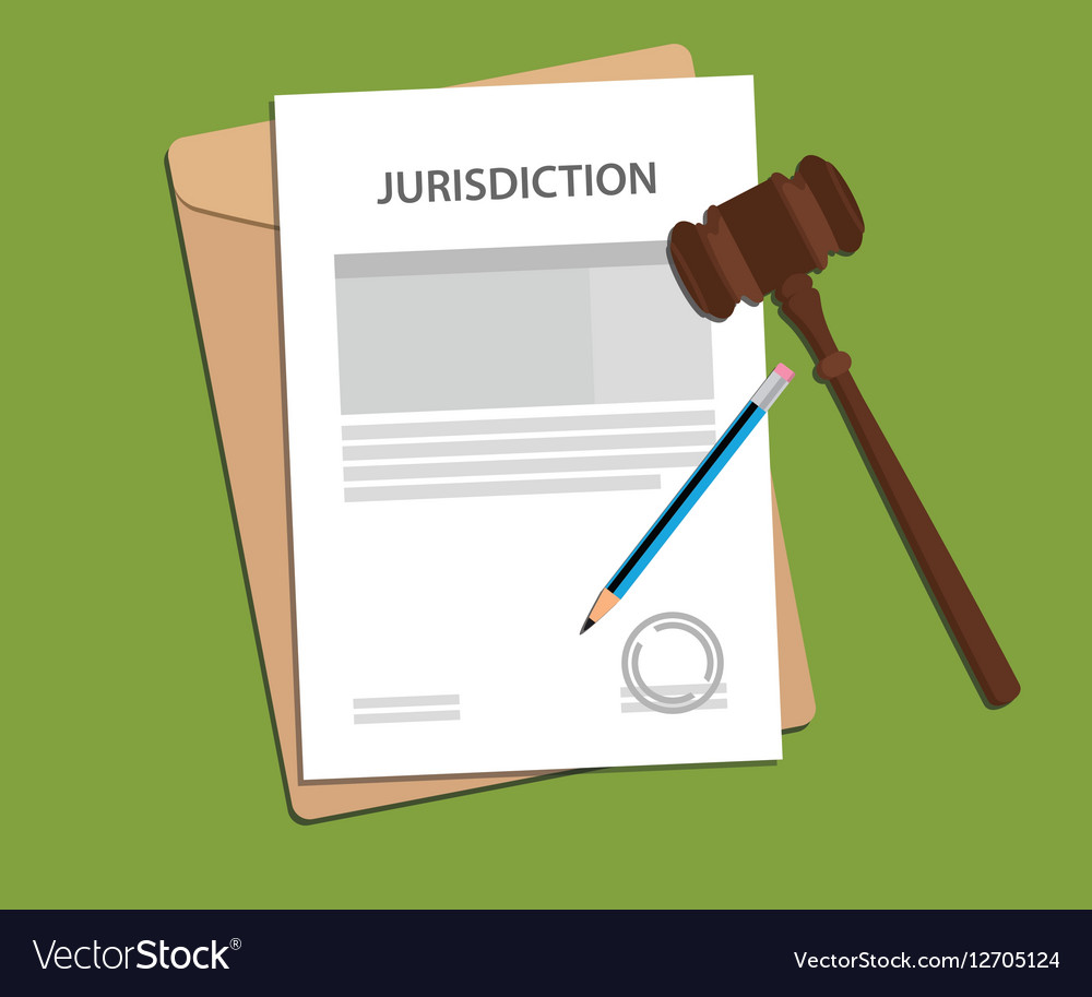 Jurisdiction concept with paper work vector image
