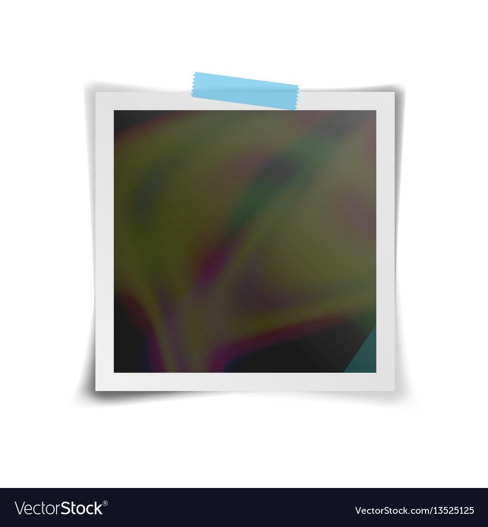 Instant photo frame retro photo frame vector image