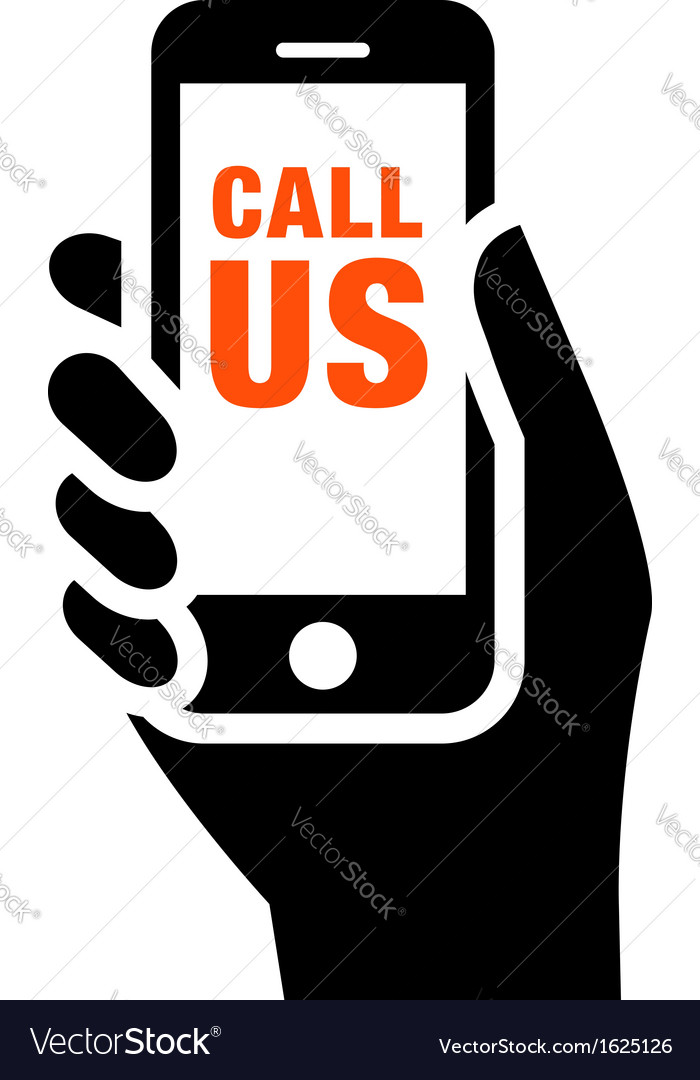 Call us sign vector image