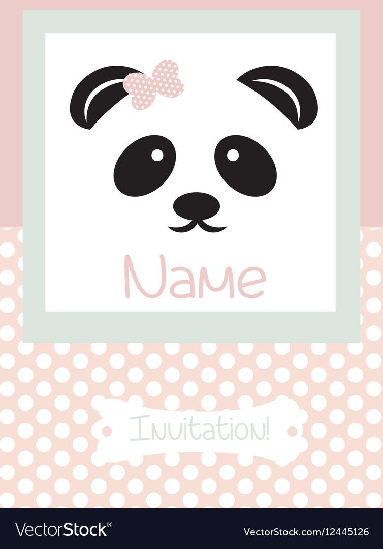 Invitation Card retro dotted pattern vector image